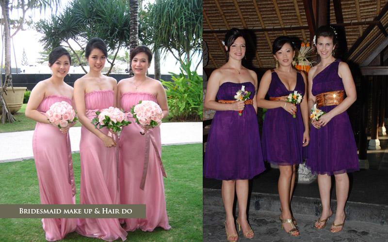 Bridesmaid Wedding Makeup Bali Wedding Make Up Artists Bali