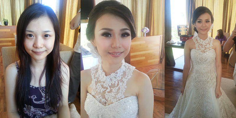Bali Makeup Artist - Before After Makeup in Bali | Bali